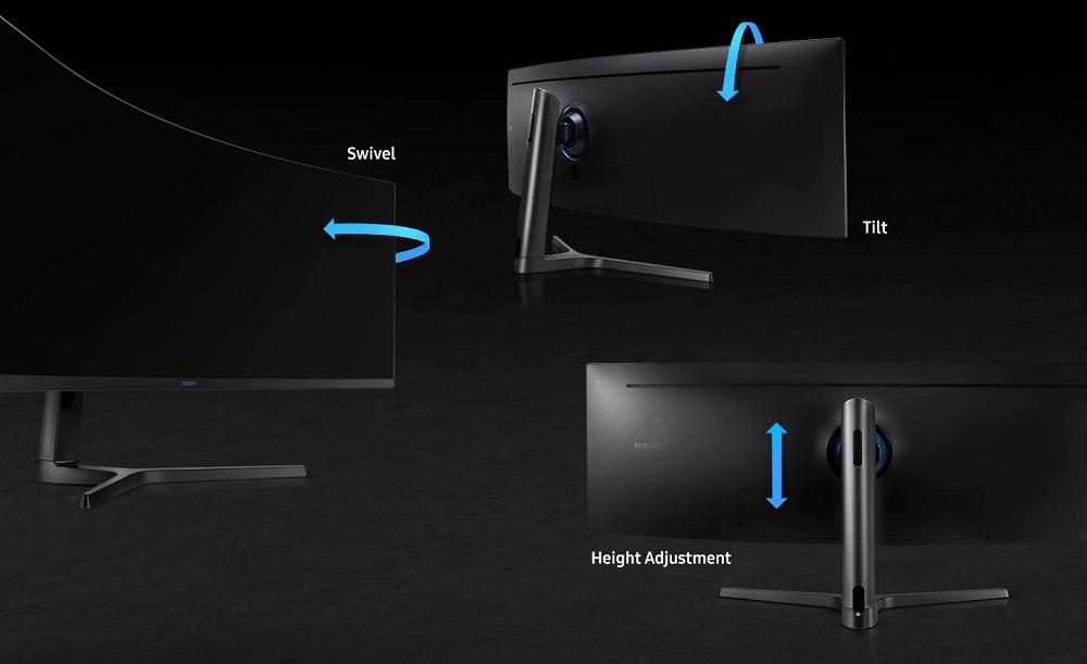 """Màn hình cong Samsung 49"""" LC49RG90SSE thuận tiện dễ kết nối"""