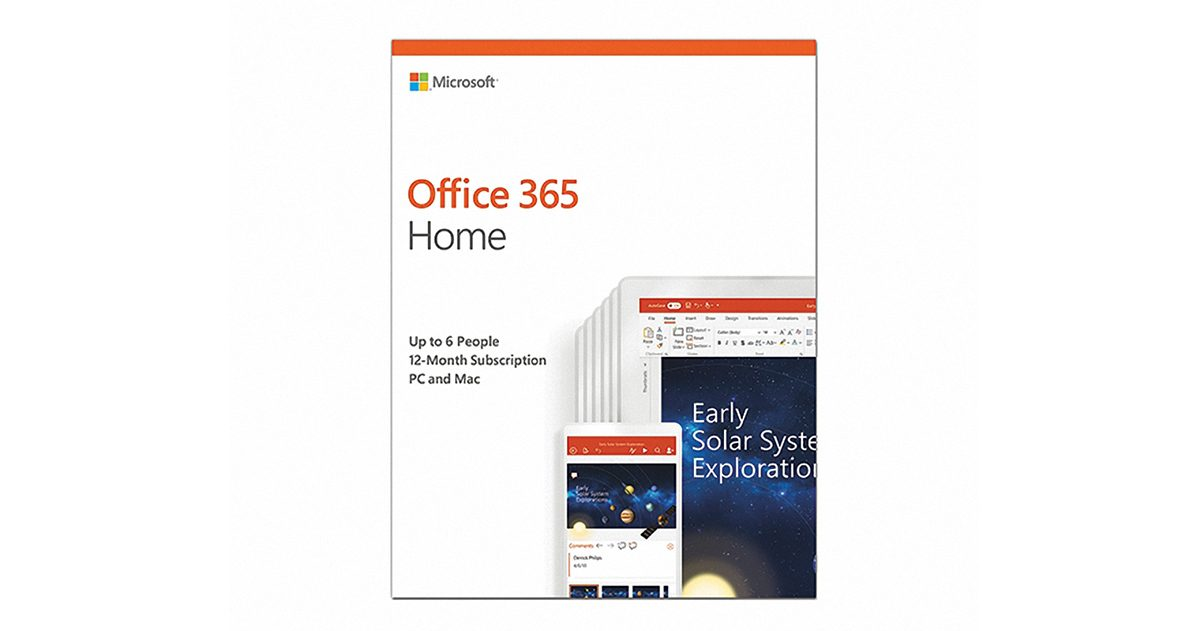 Office 365 Home English APAC EM Subscr 1YR Medialess P4 (6GQ-00968)-1