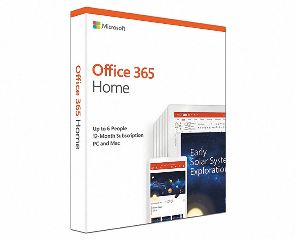 Office 365 Home English APAC EM Subscr 1YR Medialess P4 (6GQ-00968)