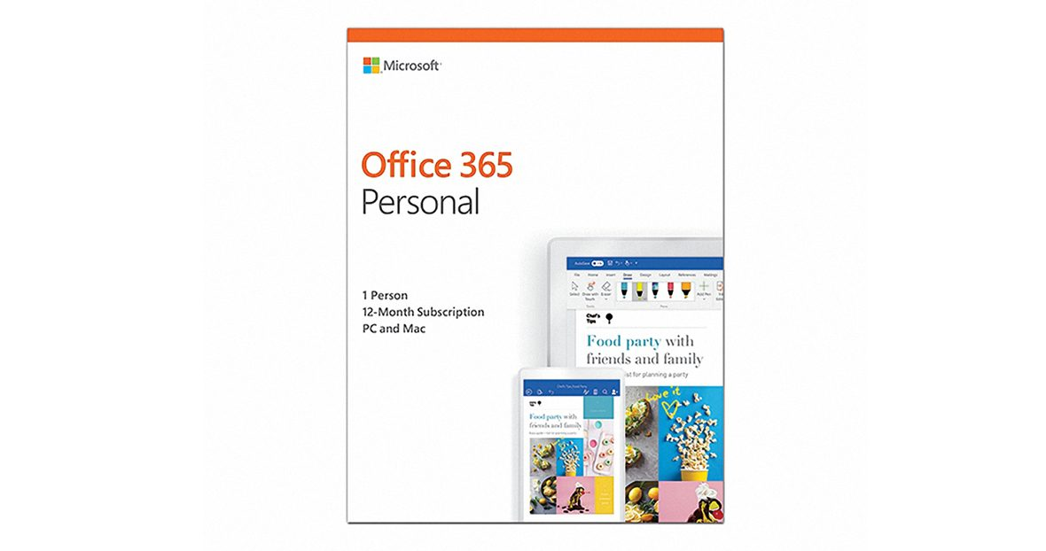 Office 365 Personal English APAC EM Subscr 1YR Medialess P4 (QQ2-00807)-1