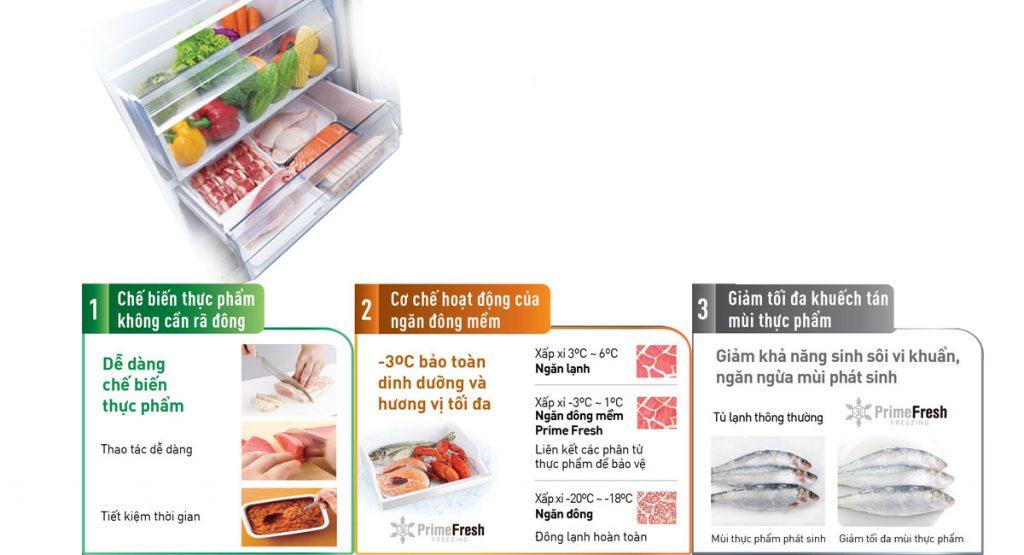 Tủ lạnh Panasonic Inverter 255 lít NR-BV289QSV2 khử mùi tinh thể bạc