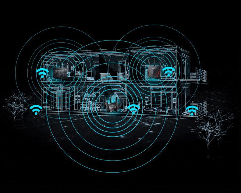 Router Wifi Mesh ASUS AC2900 RT-AC86U Gaming (2PK)-phủ sóng