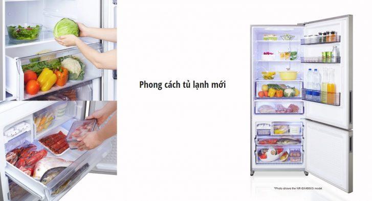 19070360 - Tủ lạnh Panasonic Inverter NR-BX418XSVN
