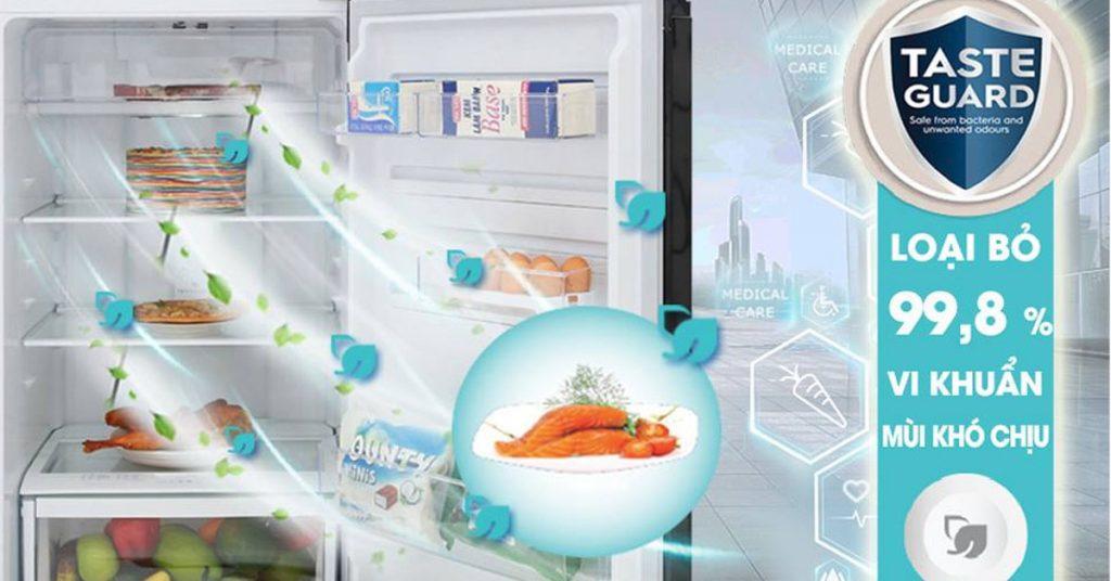 Tủ lạnh Electrolux Inverter ETB4602BA sử dụng công nghệ Taste Guard giúp kháng khuẩn hiệu quả dòng tủ lạnh Electrolux