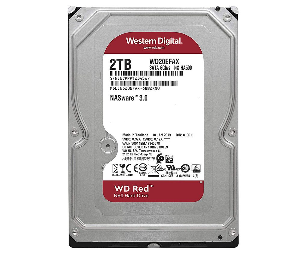 Ổ cứng HDD NAS WD Red 2TB Sata3 5400rpm (WD20EFAX)_1