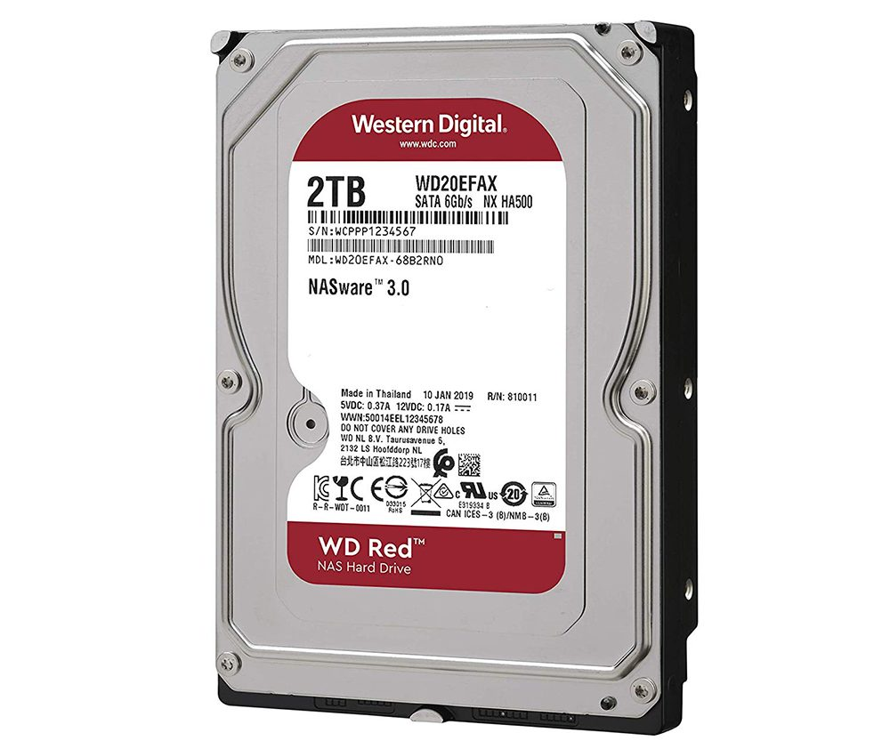 Ổ cứng HDD NAS WD Red 2TB Sata3 5400rpm (WD20EFAX)_2