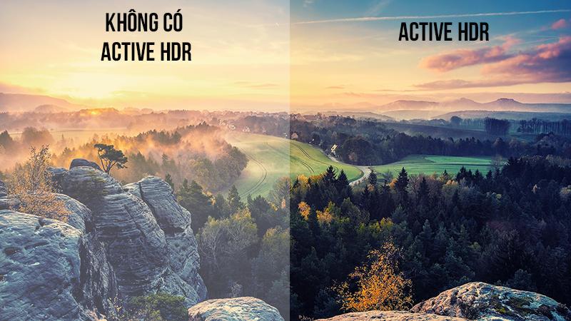 Công nghệ Active HDR đem tới hình ảnh chân thực