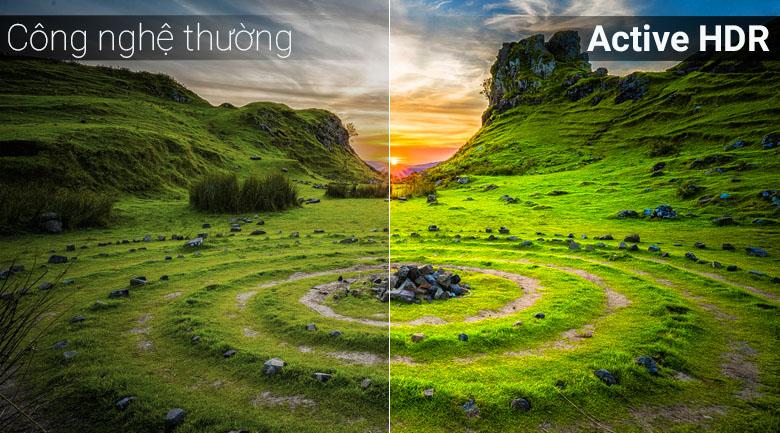 4K Active HDR đem tới hình ảnh gần gũi tự nhiên giúp người xem trải nghiệm tốt nhất