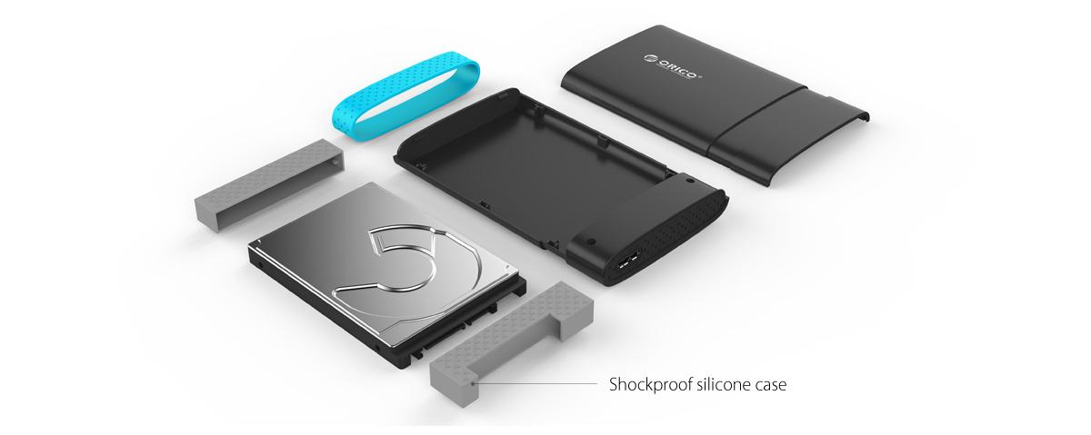 Box ổ cứng 2.5'' Orico 2538U3 SSD HDD Sata 3 USB 3.0-1