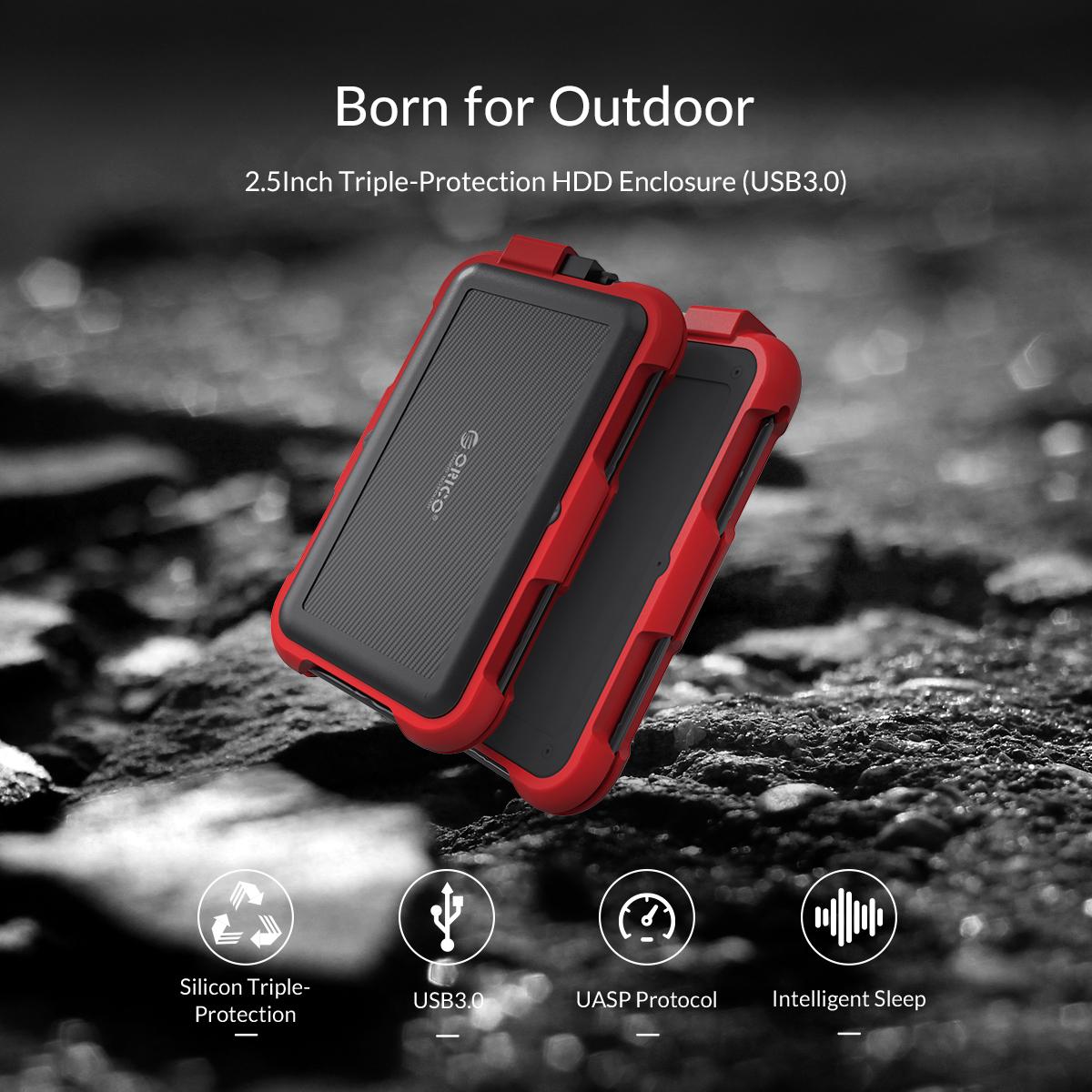 Box ổ cứng 2.5'' Orico 2769U3-RD SSD HDD Sata 3 USB 3.0 (Đỏ)-1