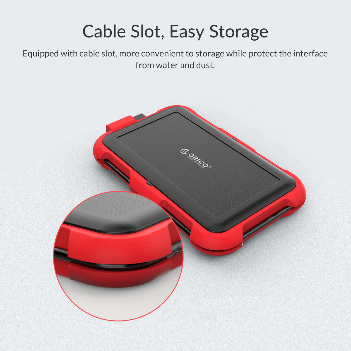 Box ổ cứng 2.5'' Orico 2769U3-RD SSD HDD Sata 3 USB 3.0 (Đỏ)-3