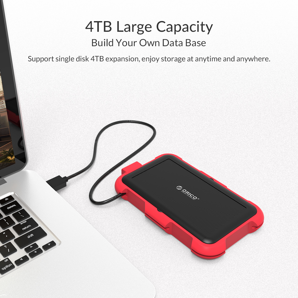 Box ổ cứng 2.5'' Orico 2769U3-RD SSD HDD Sata 3 USB 3.0 (Đỏ)-5