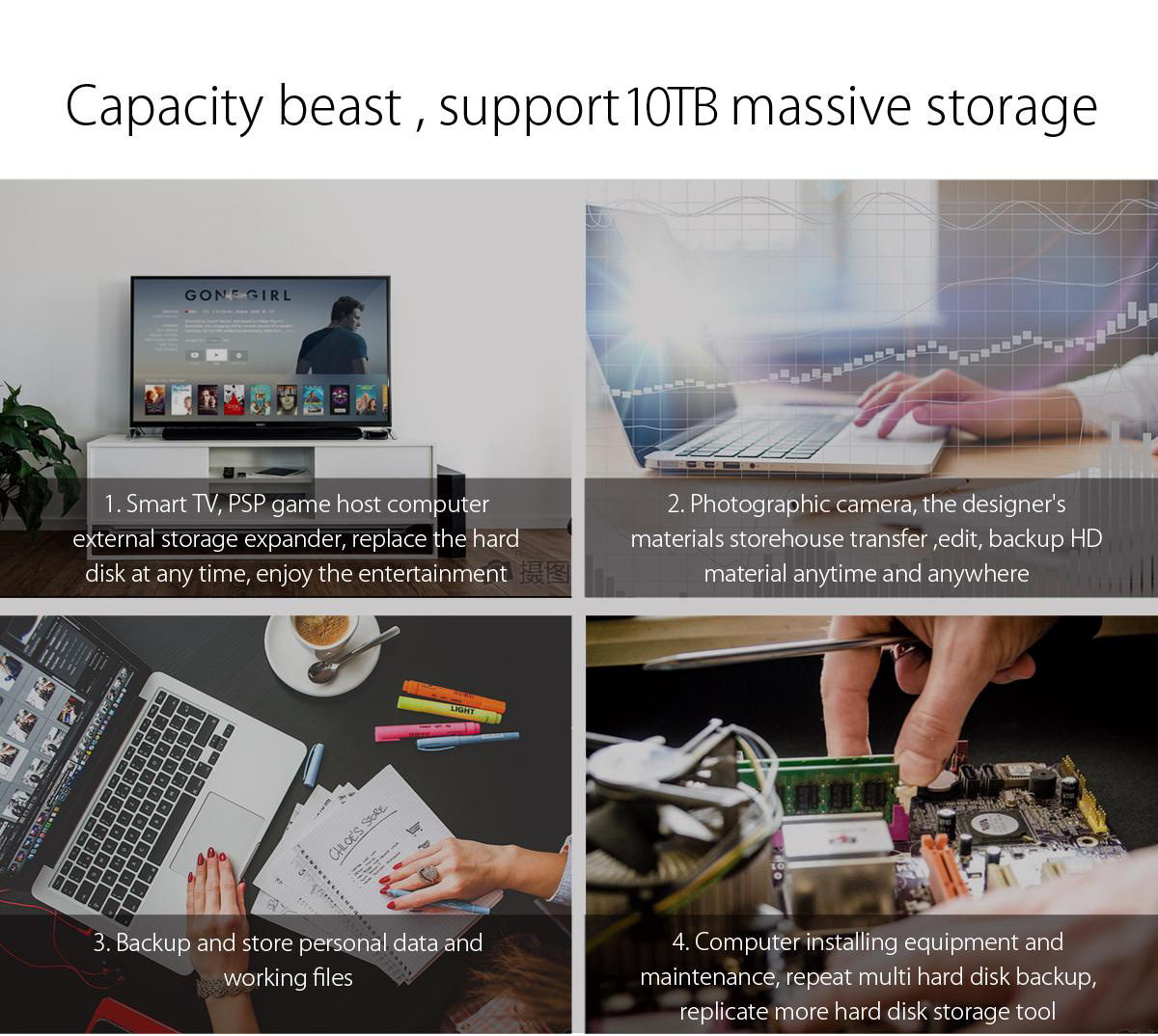 Box ổ cứng 3.5'' Orico 3139U3 SSD HDD Sata 3 USB 3.0-4