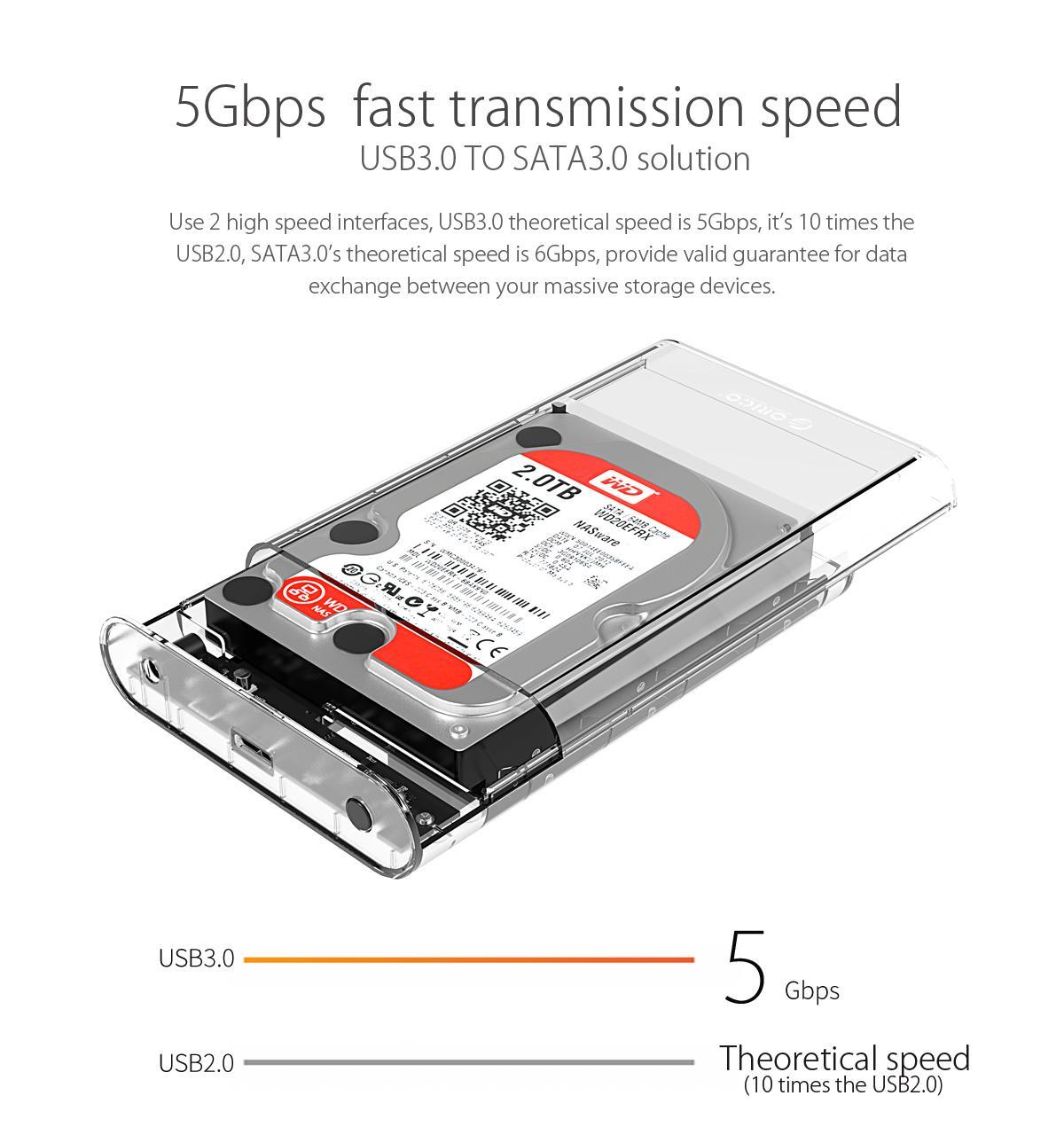 Box ổ cứng 3.5'' Orico 3139U3 SSD HDD Sata 3 USB 3.0-5