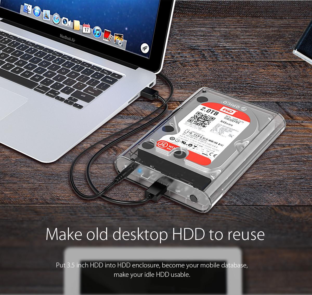 Box ổ cứng 3.5'' Orico 3139U3 SSD HDD Sata 3 USB 3.0-8