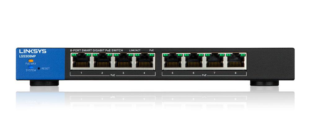 Switch Linksys 8P LGS308MP-2
