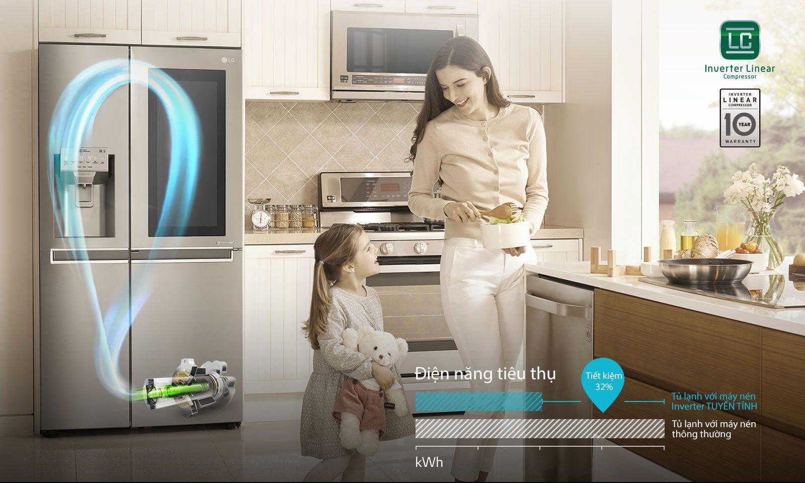 Tủ lạnh LG Inverter InstaView Door-in-Door 601 lít GR-X247MC_9