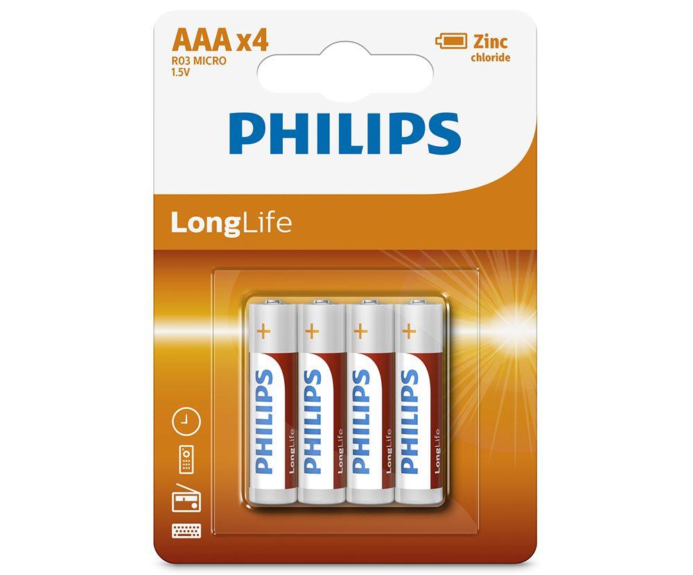 Pin Philips R03L4B (4 viên AAA)