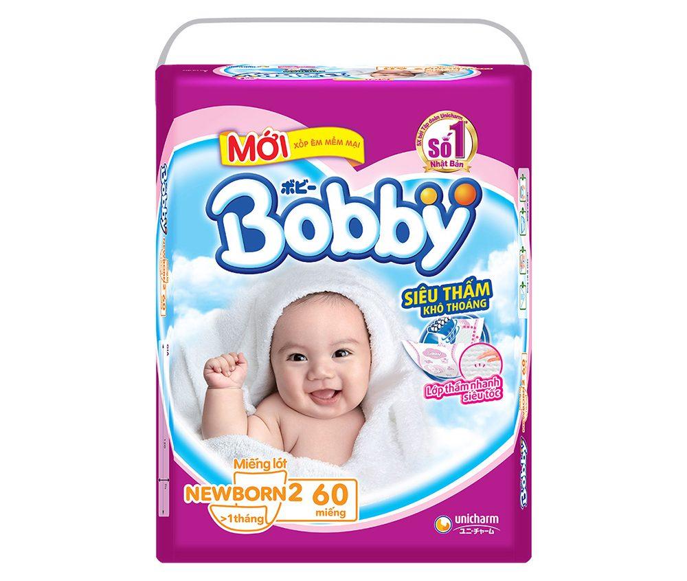 Miếng lót sơ sinh Bobby Fresh Newborn 2-60 (60 Miếng)