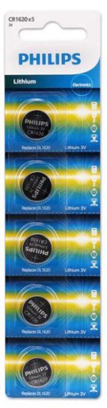 Pin Philips CR1620P5B (5 viên 3V)