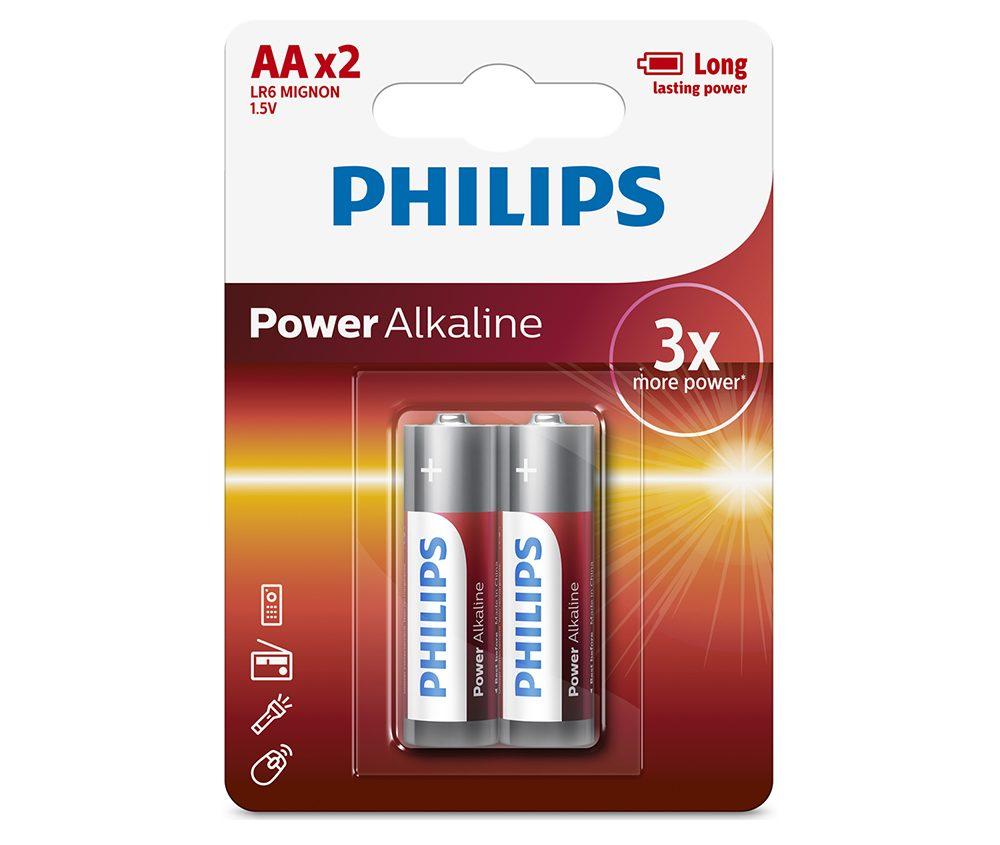 Pin Philips LR6P2B (2 viên AA)