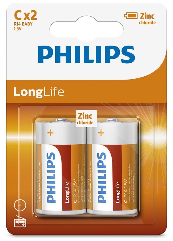 Pin Philips R14L2B (2C) (2 viên C)