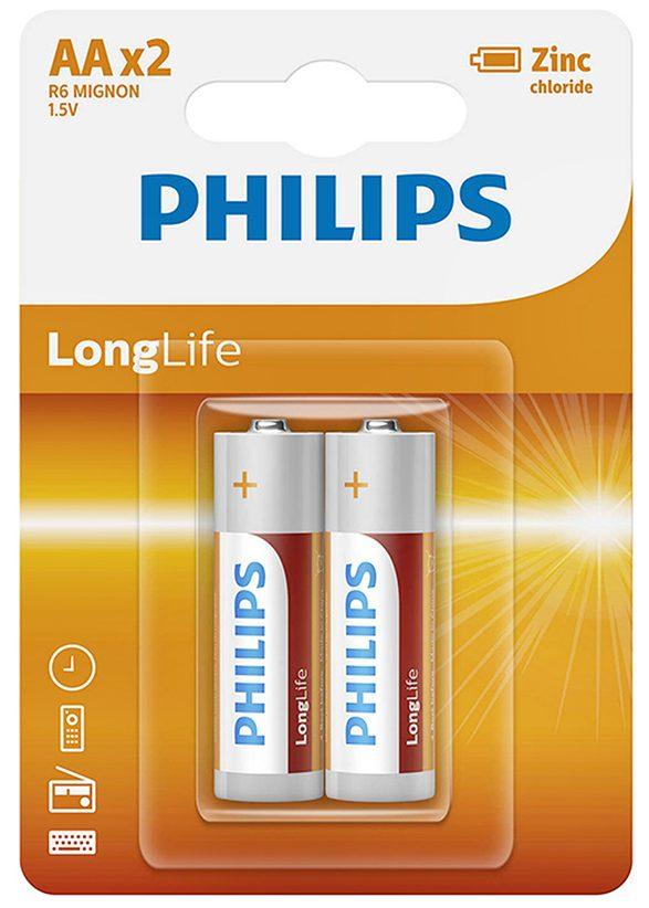 Pin Philips R6L2B (2 viên AA)