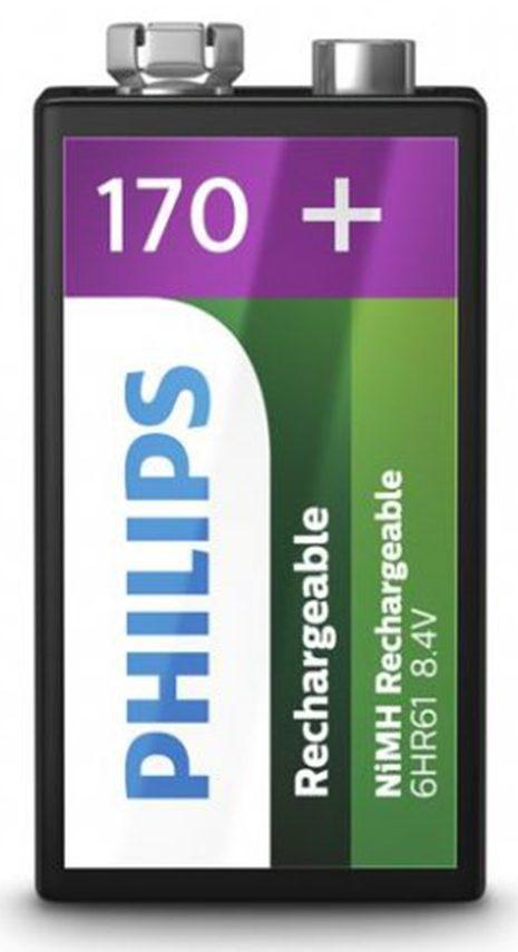 Pin Sạc Philips NiMH 170mAh 9VB1A17 (1 viên V)