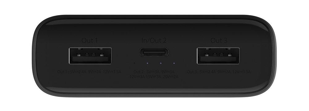 Pin sạc dự phòng Xiaomi Mi 3 Pro 20.000mAh (Đen)_4