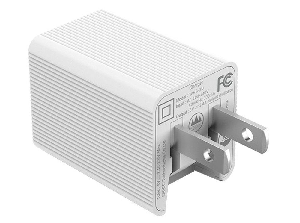Sạc điện thoại Orico USB 2 cổng 2.4A (WHB-2U)_3