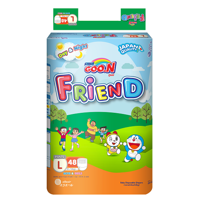 Tã Quần Goon Friend L48 ( 9 -14 Kg) (48 Miếng)
