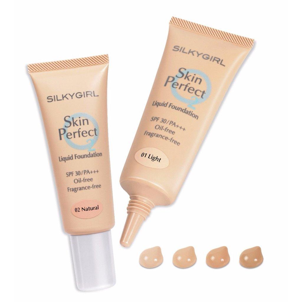 Kem Nền Silkygirl Skin Perfect-02 Natural Light mô tả