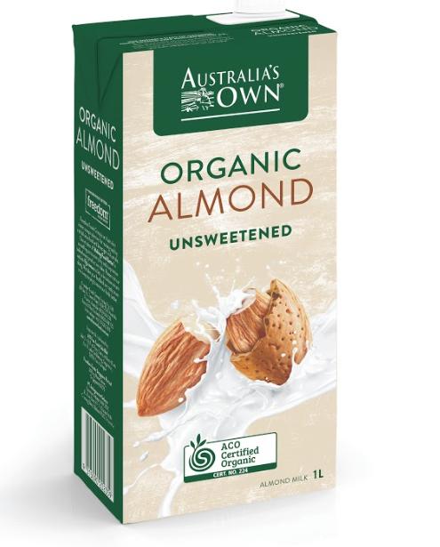 Australia's Own Sữa Hạnh nhân Không Ngọt Organic 1L
