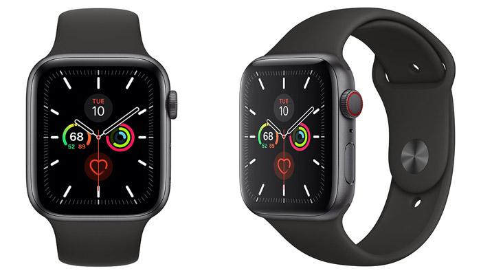 Apple Watch S5 (LTE) 40mm - Viền nhôm xám, dây cao su đen (MWX32VNA)