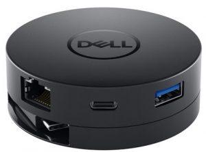 Hub chuyển đổi Dell DA300 USB-C Mobile Adapter - USB-C to HDMI / VGA / DP /E thernet / USBC / USB-A - SNP (70177151)