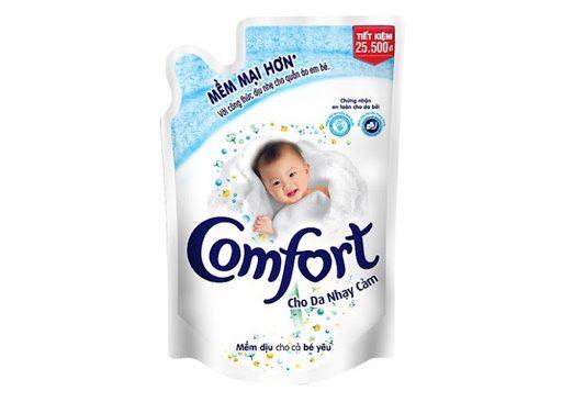 Nước xả vải Comfort đậm đặc cho da nhạy cảm túi 1.6L_1