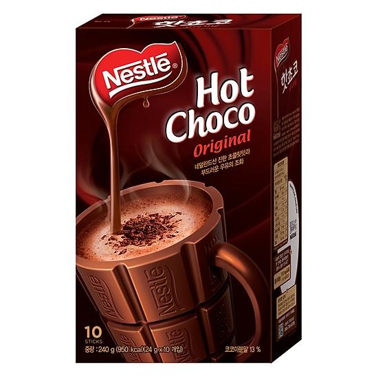 Bột Ca Cao NESTLÉ Hot Choco Hộp 10 gói x 24g