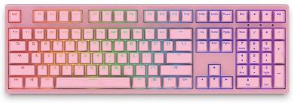 Bàn phím cơ Akko 3108S RGB PRO Blue Switch (108 keys) (Hồng)