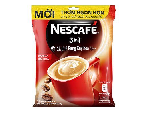 Cafe Hòa Tan NESCAFÉ 3 in1 Cà Phê Đậm Đà Hài Hòa Bịch 46 gói x 17g_1