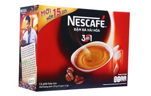 Cafe Hòa Tan NESCAFÉ 3 in1 Cà Phê Đậm Đà Hài Hòa Hộp 15 gói x 17g_1