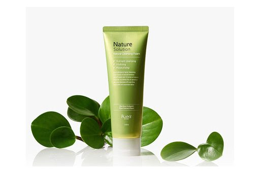 THE PLANT BASE Nature Solution Natural Cleansing Foam (Bọt rửa mặt giúp sáng mịn da)