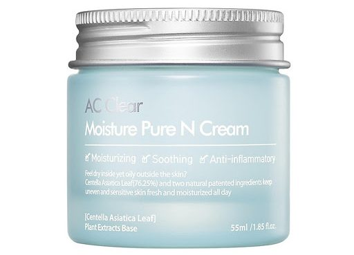 THE PLANT BASE AC Clear Moisture Pure N Cream (Kem dưỡng ẩm cho da dầu và mụn)