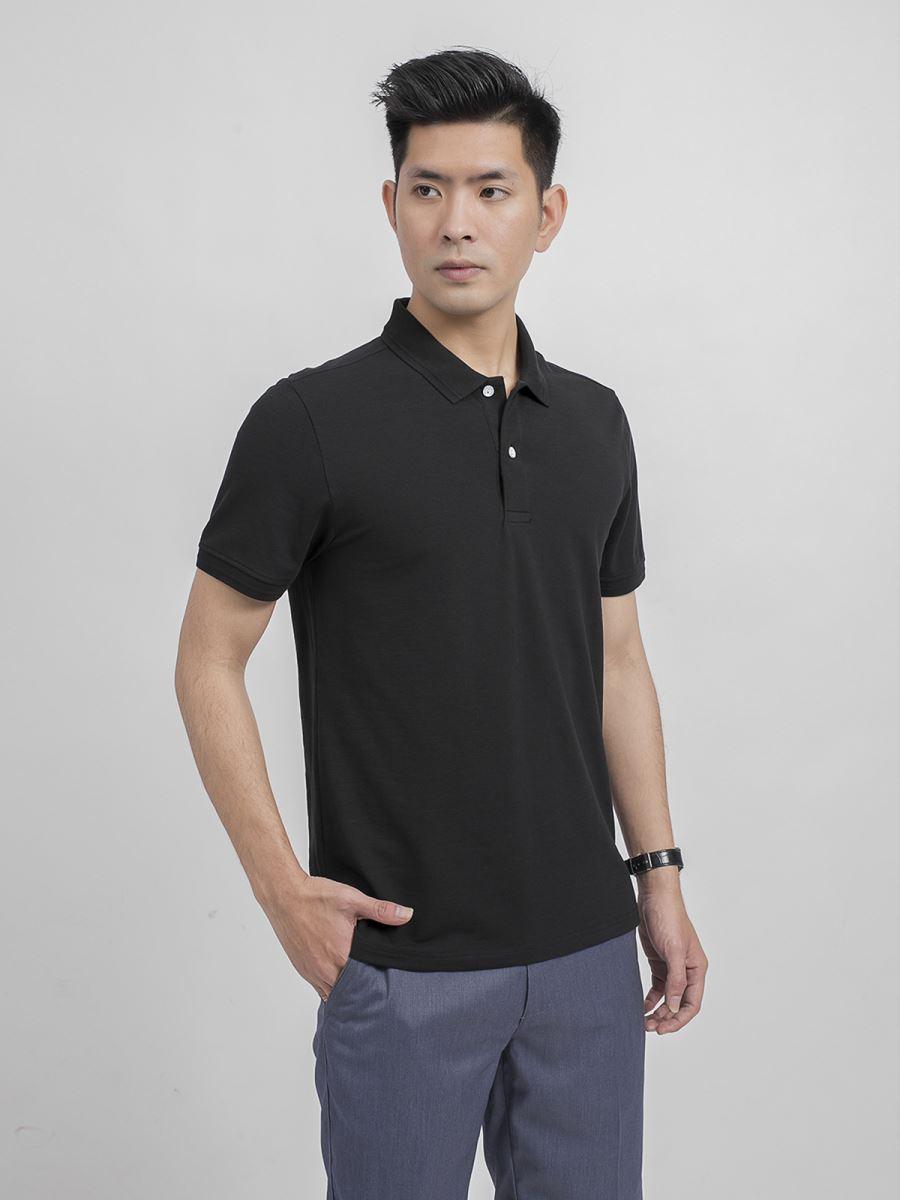 Áo Polo ngắn tay Aristino APS019S9 màu Đen 9 Slub cỡ L