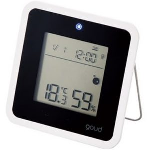 Đồng hồ có báo thức, đo ẩm kế và nhiệt độ ELECOM OND-01BKK