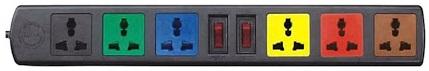 Ổ cắm điện Lioa 6D32N (6 ổ 3 chấu)