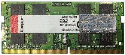 Bộ nhớ laptop DDR4 Kingston 16GB (2666) (KVR26S19D8/16FE)