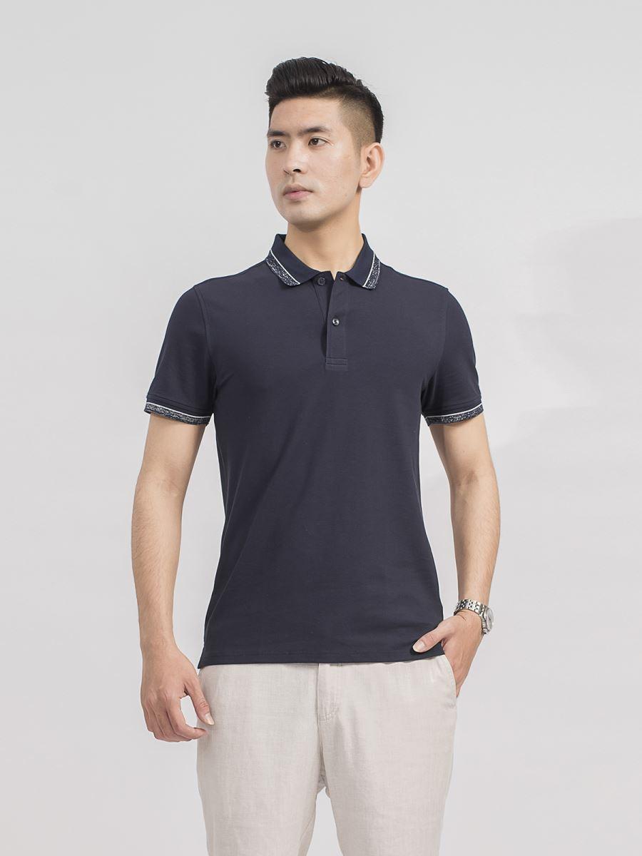 Áo Polo ngắn tay Aristino APS067S9 màu Xanh tím than 8 cỡ S