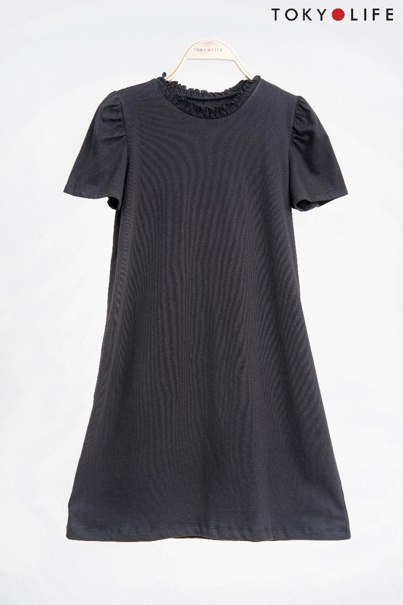 Đầm Nữ cổ lọ dáng suông TOKYOLIFE I9DRE507G (XL, Đen)