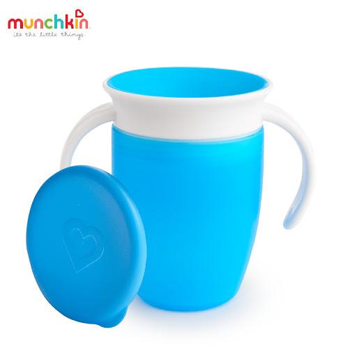 Cốc tập uống 360 độ Munchkin có nắp 207ml (Xanh dương) MK51854_3