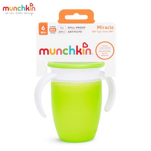 Cốc tập uống 360 độ Munchkin có nắp 207ml (Xanh lá) MK51856_1